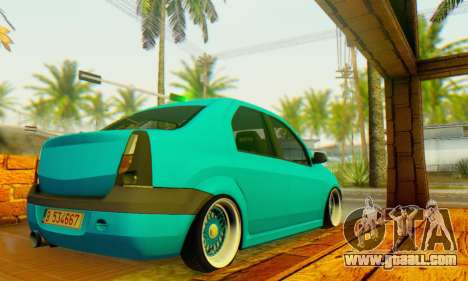 Dacia Logan Elegant for GTA San Andreas back left view