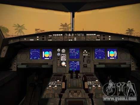 Airbus A340-600 Qatar Airways for GTA San Andreas wheels