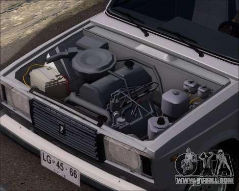 LADA 2107 for GTA San Andreas inner view