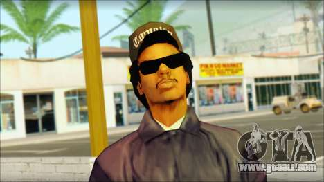 Eazy-E Blue Skin v1 for GTA San Andreas third screenshot