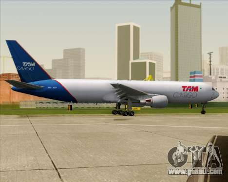 Boeing 767-300ER F TAM Cargo for GTA San Andreas upper view
