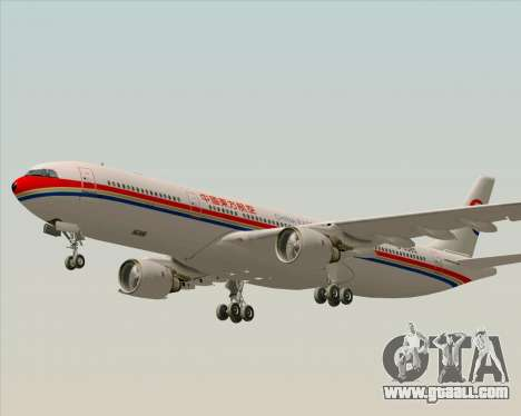 Airbus A330-300 China Eastern Airlines for GTA San Andreas upper view