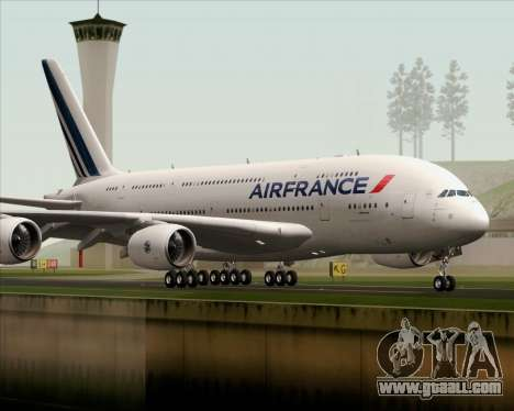 Airbus A380-861 Air France for GTA San Andreas right view