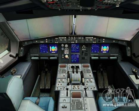 Airbus A340-313 Singapore Airlines for GTA San Andreas interior