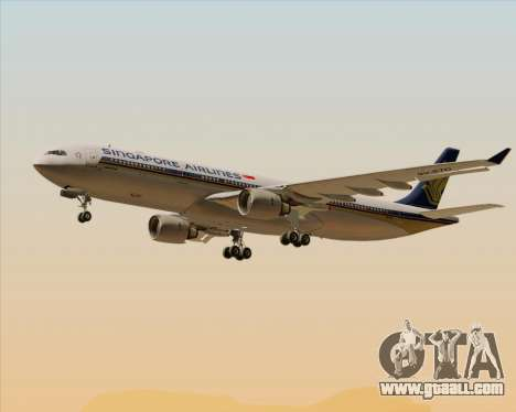 Airbus A330-300 Singapore Airlines for GTA San Andreas wheels