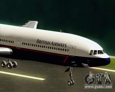 Lockheed L-1011 TriStar British Airways for GTA San Andreas inner view
