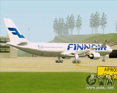 Airbus A330-300 Finnair (Current Livery) for GTA San Andreas right view