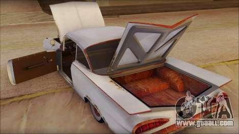 Chevrolet Biscayne 1959 Ratlook for GTA San Andreas inner view