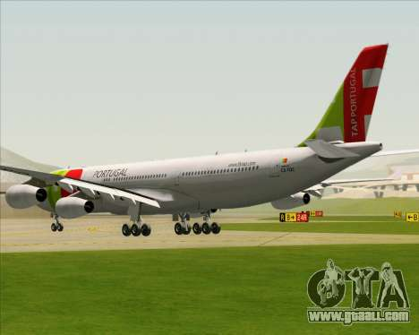 Airbus A340-312 TAP Portugal for GTA San Andreas back left view