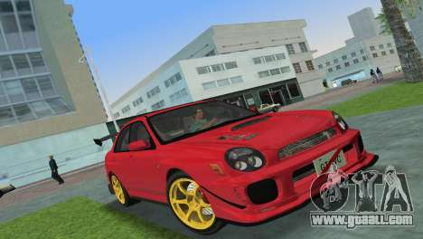 Subaru Impreza WRX 2002 Type 4 for GTA Vice City left view