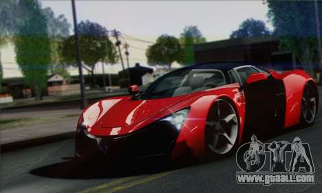 Marussia B2 for GTA San Andreas right view