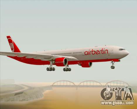 Airbus A330-300 Air Berlin for GTA San Andreas right view