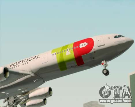 Airbus A340-312 TAP Portugal for GTA San Andreas wheels