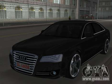 Audi A8 2010 W12 Rim6 for GTA Vice City
