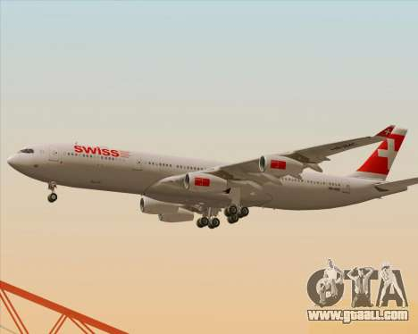Airbus A340-313 Swiss International Airlines for GTA San Andreas interior