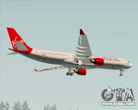 Airbus A330-300 Virgin Atlantic Airways for GTA San Andreas inner view