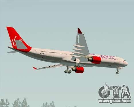 Airbus A330-300 Virgin Atlantic Airways for GTA San Andreas inner view