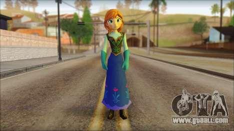 Princess Anna (Frozen) for GTA San Andreas