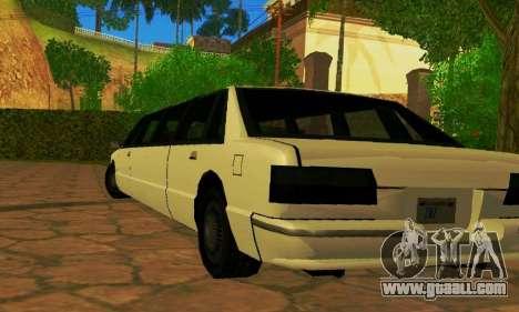 Premier Limousine for GTA San Andreas back left view