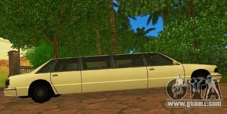 Premier Limousine for GTA San Andreas left view