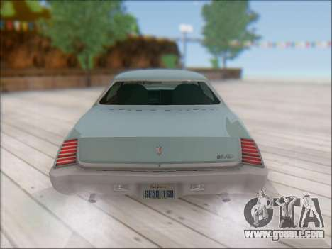 Chevrolet Monte Carlo 1973 for GTA San Andreas back view