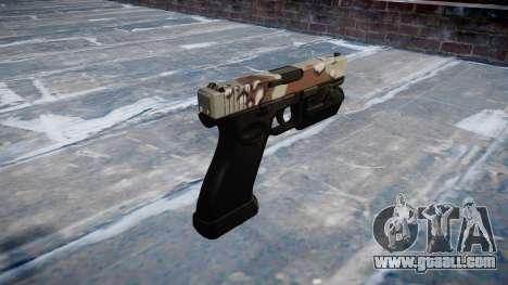 Pistol Glock 20 choco for GTA 4 second screenshot