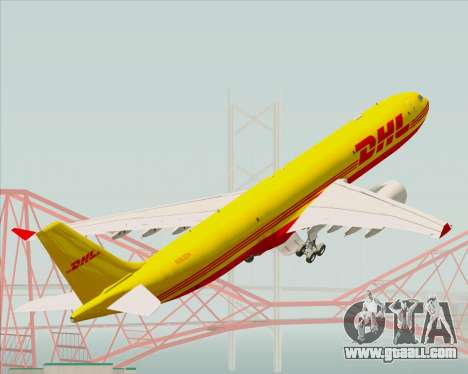 Airbus A330-300P2F DHL for GTA San Andreas wheels