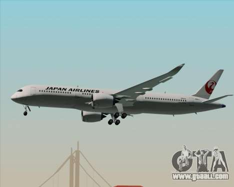 Airbus A350-941 Japan Airlines for GTA San Andreas wheels