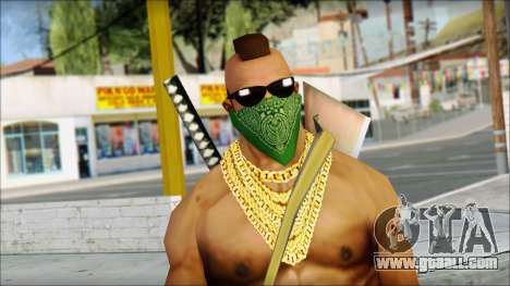 MR T Skin v11 for GTA San Andreas third screenshot