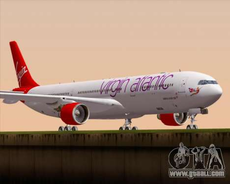 Airbus A330-300 Virgin Atlantic Airways for GTA San Andreas left view