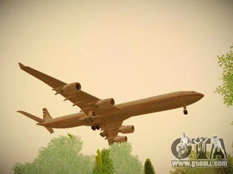 Airbus A340-600 Etihad Airways for GTA San Andreas back view