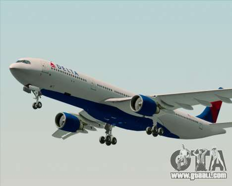 Airbus A330-300 Delta Airlines for GTA San Andreas upper view