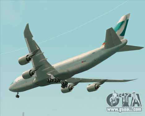 Boeing 747-8 Cargo Cathay Pacific Cargo for GTA San Andreas back view