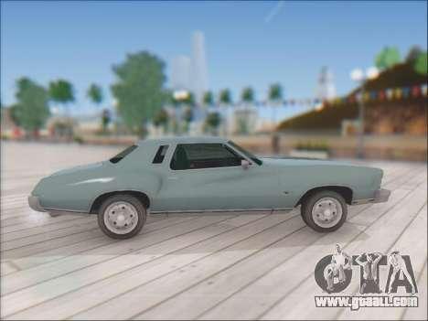 Chevrolet Monte Carlo 1973 for GTA San Andreas right view