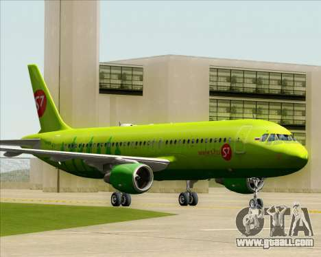 Airbus A320-214 S7-Siberia Airlines for GTA San Andreas left view
