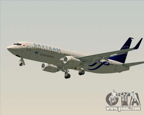 Boeing 737-86N Garuda Indonesia for GTA San Andreas side view
