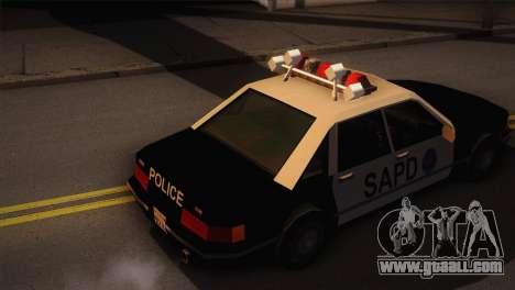GTA 3 Police Car for GTA San Andreas back left view