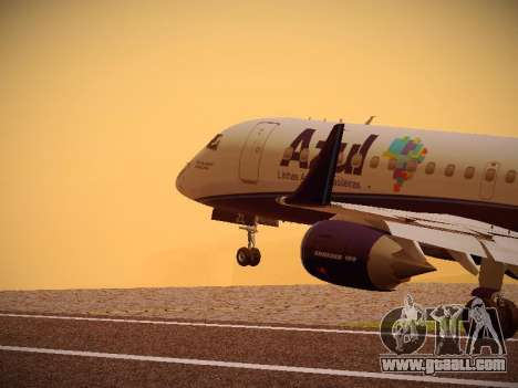 Embraer E190 Azul Tudo Azul for GTA San Andreas wheels