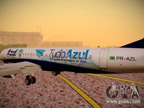 Embraer E190 Azul Tudo Azul for GTA San Andreas interior