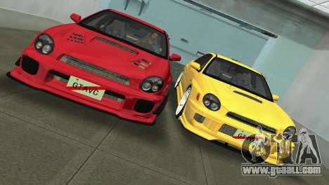 Subaru Impreza WRX 2002 Type 5 for GTA Vice City upper view