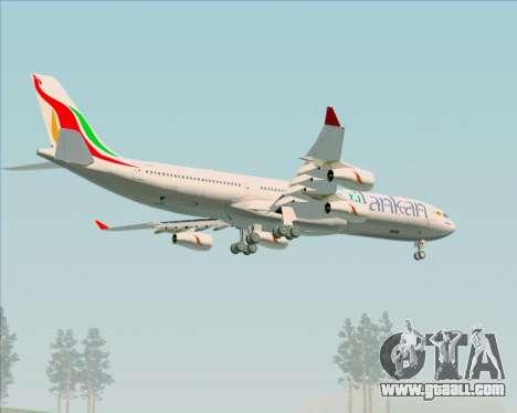 Airbus A340-313 SriLankan Airlines for GTA San Andreas wheels