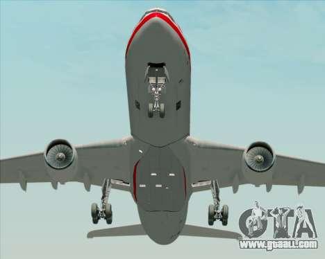 Airbus A330-300 LTU International for GTA San Andreas inner view