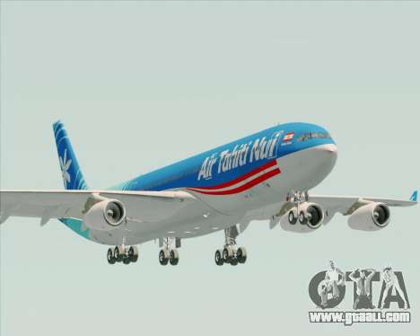 Airbus A340-313 Air Tahiti Nui for GTA San Andreas upper view