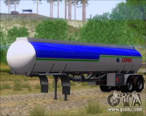 Trailer tank Carro Copec for GTA San Andreas right view