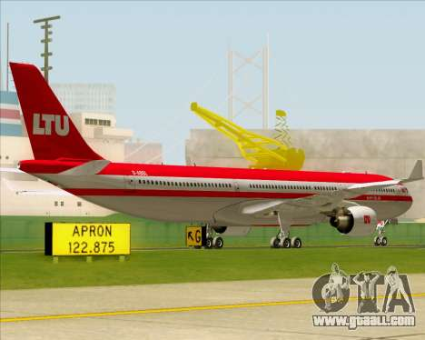 Airbus A330-300 LTU International for GTA San Andreas back view