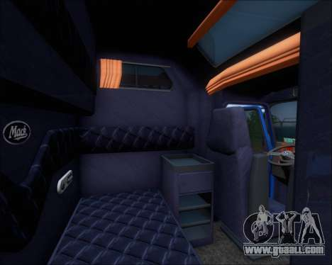 Mack Pinnacle 2006 for GTA San Andreas interior