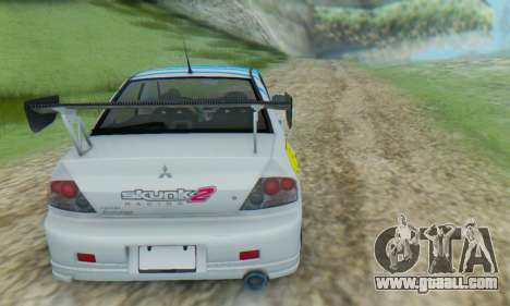 Mitsubishi Lancer Turkis Drift Aem for GTA San Andreas right view