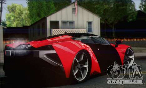 Marussia B2 for GTA San Andreas back left view
