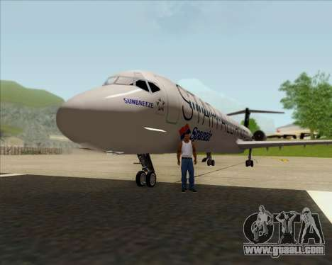 McDonnell Douglas MD-82 Spanair for GTA San Andreas inner view