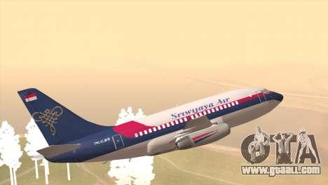 Indonesian Plane Sriwijaya Air for GTA San Andreas left view